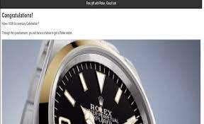 Rolex 100th Years Anniversary Scam