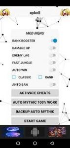 Mod Menu Rank Booster APK